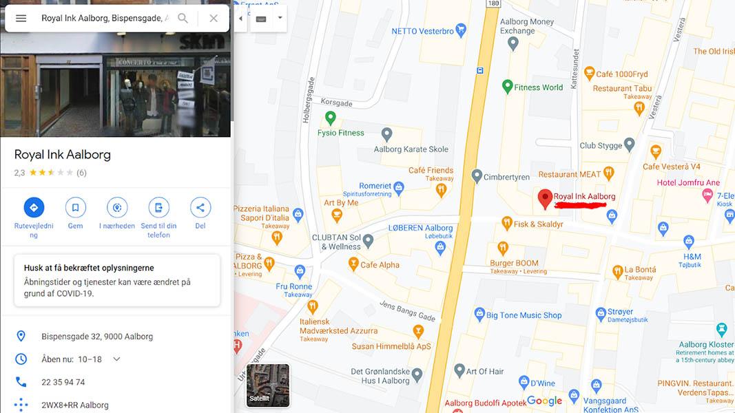 Royal Ink Google Maps
